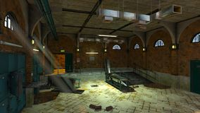 Morgue. 3D CG rendering of the morgue Stock Images