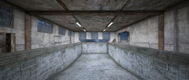 Morgue. 3D CG rendering of the morgue Royalty Free Stock Images