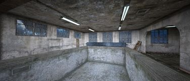 Morgue. 3D CG rendering of the morgue Royalty Free Stock Photography