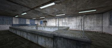 Morgue. 3D CG rendering of the morgue Stock Photography