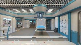 3D CG rendering Nowożytna budynek nawa ilustracji