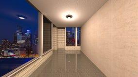 3D CG rendering Nowożytna budynek nawa fotografia royalty free