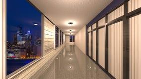3D CG rendering Nowożytna budynek nawa zdjęcia royalty free