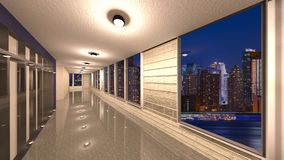3D CG rendering Nowożytna budynek nawa obrazy stock