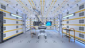 Operating room. 3D CG rendering of the operating room Royalty Free Stock Photography