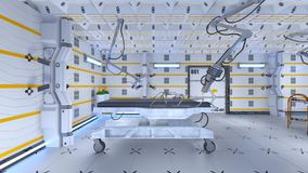 Operating room. 3D CG rendering of the operating room Royalty Free Stock Images