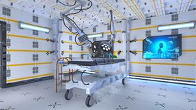 Operating room. 3D CG rendering of the operating room Stock Photography