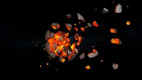 Planet explosion. 3D CG rendering of the planet explosion Stock Image
