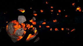 Planet explosion. 3D CG rendering of the planet explosion Stock Photo