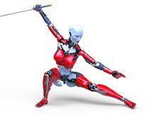 3D CG rendering robot ilustracja wektor