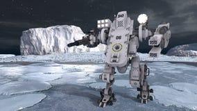 3D CG rendering of robot vector illustration