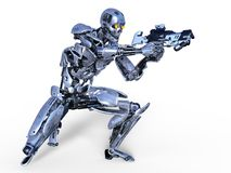 Robot. 3D CG rendering of a robot Stock Images