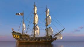 Sailing boat. 3D CG rendering of a sailing boat stock image