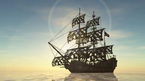 Sailing boat. 3D CG rendering of a sailing boat stock photos