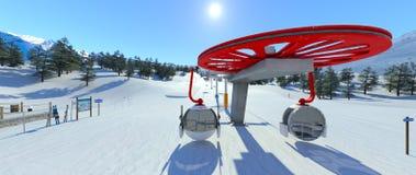 Ski resort. 3D CG rendering of the ski resort Royalty Free Stock Images