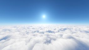 Sky and clouds. 3D CG rendering of the sky and clouds stock illustration