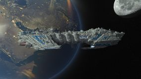 Space ship. 3D CG rendering of a space ship Stock Photography