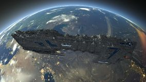 Space ship. 3D CG rendering of a space ship Royalty Free Stock Photo