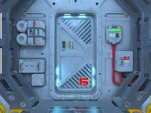 Space station. 3D CG rendering of the space station Stock Photos