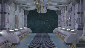 Space station. 3D CG rendering of the space station stock footage