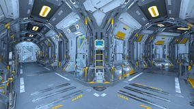 Space station. 3D CG rendering of the space station stock illustration