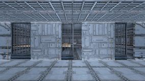 Space station. 3D CG rendering of the space station Stock Photo