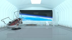 Space station. 3D CG rendering of the space station royalty free illustration