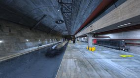 Submarine dock. 3D CG rendering of the submarine dock Stock Images