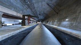 Submarine dock. 3D CG rendering of the submarine dock Stock Photos