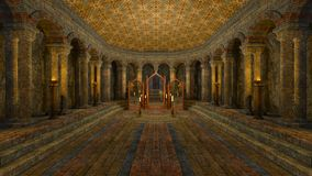 Underground temple Royalty Free Stock Photos