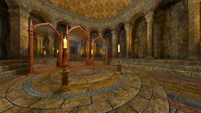Underground temple Stock Photo