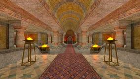 Underground temple Stock Image