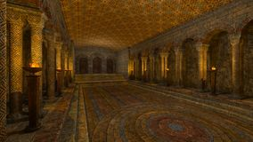 Underground temple Royalty Free Stock Image