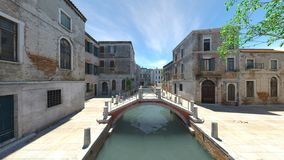 Waterway. 3D CG rendering of the waterway Royalty Free Stock Photography