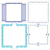 Vector of decorative frame. And corner royalty free illustration