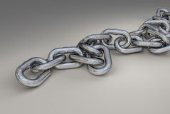 3d chain link Stock Photo