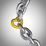 3D Chain Love Set 1 Gold Royalty Free Stock Photo