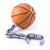 3d Chained basketball Stock Image