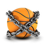 3d Chained basketball Royalty Free Stock Image