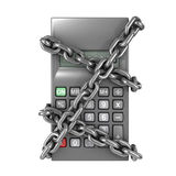 3d Chained calculator Stock Image