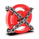 3d Chained email address symbol Royalty Free Stock Image