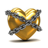 3d Chained gold heart Royalty Free Stock Photo