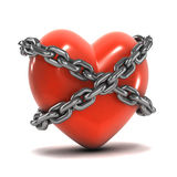 3d Chained heart Royalty Free Stock Photos