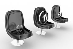 3d chair different positions Stock Photography
