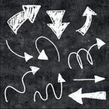 3d chalk arrows Stock Images
