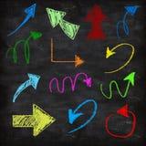 3d chalk arrows Stock Photo