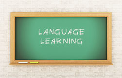 3D Chalkboard z Językowym uczenie Obrazy Royalty Free
