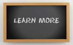 3d chalkboard z uczy się więcej tekst Ilustracji