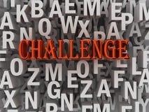 3d Challenge Concept word cloud Stock Image