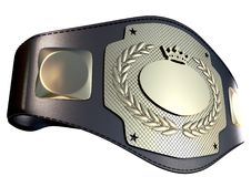 3D championship belt Royalty Free Stock Image